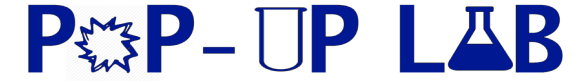 Pop-up Lab Logo - blue
